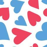 Configuration sans joint de coeur Illustration d'amour de vecteur Saint-Valentin, le jour de mère, mariage, album, papier d'embal illustration stock