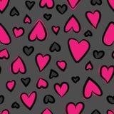 Configuration sans joint de coeurs Illustration de vecteur Coeurs r?p?t?s Configuration sans joint romantique mignonne Illustrati images stock