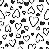 Configuration sans joint de coeurs Illustration de vecteur Coeurs r?p?t?s photos stock