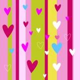 Configuration sans joint de coeurs Coeurs roses colorés Amour ` S de Valentine Photos stock