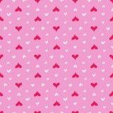 Configuration sans joint de coeurs Coeurs roses colorés Amour ` S de Valentine Photo libre de droits