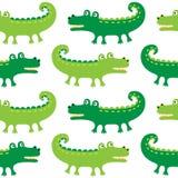Configuration sans joint de crocodiles de dessin animé Illustration Libre de Droits