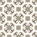 Configuration sans joint de cru Ornement ethnique Style de Boho Rétros éléments décoratifs Fond qu'on peut répéter Usine florale  Illustration de Vecteur