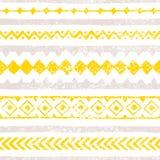 Configuration sans joint de cru Traits horizontaux, geomet multicolore illustration libre de droits
