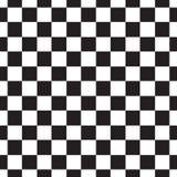 Configuration sans joint de damier Résumé noir et blanc, fond infini géométrique Texture de répétition carrée moderne Photos stock