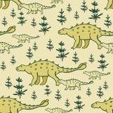 Configuration sans joint de dinosaures Photos stock