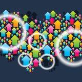 Configuration sans joint de flèche colorée Photographie stock libre de droits