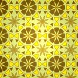 Configuration sans joint de fleur géométrique de vecteur Images stock