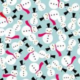 Configuration sans joint de fond d'écharpe de bonhomme de neige Images stock