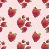 Configuration sans joint de fond de fraise Photographie stock libre de droits