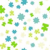 Configuration sans joint de fond de puzzle coloré Illustration de vecteur d'isolement sur le fond blanc photos libres de droits