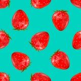 Configuration sans joint de fraise illustration réaliste du vecteur 3d d'isolement sur le bleu Images libres de droits