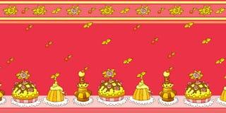 Configuration sans joint de gâteau de dessin animé Image stock