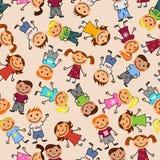 Configuration sans joint de garçons et de filles Photo libre de droits