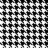 Configuration sans joint de Houndstooth Fond noir et blanc d'abrégé sur vecteur Illustration Stock