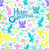 Configuration sans joint de Joyeux Noël Images stock