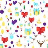 Configuration sans joint de Joyeux Noël illustration stock