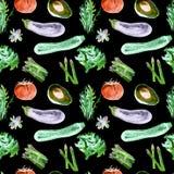 Configuration sans joint de légumes Modèle qu'on peut répéter avec la nourriture saine Photographie stock