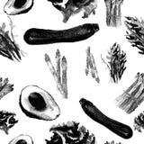 Configuration sans joint de légumes Modèle qu'on peut répéter avec la nourriture saine Image libre de droits