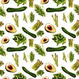 Configuration sans joint de légumes Modèle qu'on peut répéter avec la nourriture saine Photographie stock libre de droits