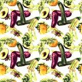 Configuration sans joint de légumes Modèle qu'on peut répéter avec la nourriture saine Photo libre de droits