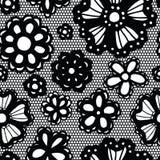 Configuration sans joint de lacet avec des fleurs Image stock