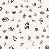 Configuration sans joint de lames Fond decirative de conception de feuille stylisée Fougères d'or vert sans joint illustration libre de droits