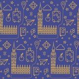 Configuration sans joint de Londres illustration stock