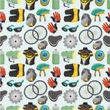 Configuration sans joint de matériel de bicyclette de dessin animé Photos stock