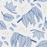 configuration sans joint de nature Texture répétitive avec des feuilles Images stock