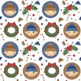 Configuration sans joint de Noël Photo stock