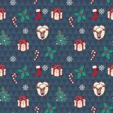 Configuration sans joint de Noël dans le vecteur Images stock