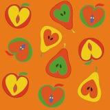 Configuration sans joint de pommes et de poires Image stock