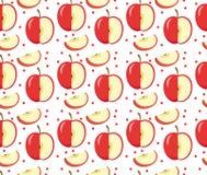 Configuration sans joint de pommes Fond sans fin rouge d'Apple, texture Fruits Photo libre de droits