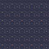 Configuration sans joint de réseau Cube géométrique, effet d'étoile Conception graphique de mode Illustration de vecteur Concepti Image libre de droits
