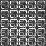 Configuration sans joint de réseaux noirs et blancs illustration de vecteur
