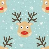 Configuration sans joint de renne de Noël illustration de vecteur