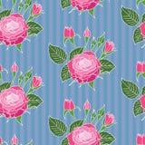 Configuration sans joint de roses Photo stock