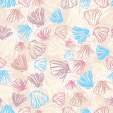 Configuration sans joint de Seashells Photos stock