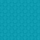 Configuration sans joint de silhouette bleue de fleur Images libres de droits