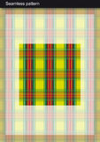Configuration sans joint de tartan Photographie stock libre de droits