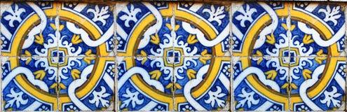 Configuration sans joint de tuile des carreaux de céramique antiques Photo stock