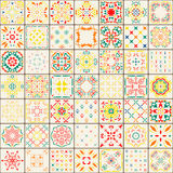 Configuration sans joint de tuile Modèle coloré de boho Ornement pattern Image stock