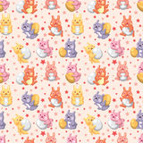Configuration sans joint de vacances de lapin Photographie stock libre de droits