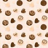Configuration sans joint de vecteur avec du chocolat Image stock