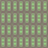 Configuration sans joint de vecteur Fond géométrique symétrique avec des rectangles dans des couleurs vertes Photo libre de droits