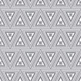 Configuration sans joint de vecteur Fond géométrique symétrique avec les triangles noires sur le contexte blanc Ornement décorati Photos libres de droits