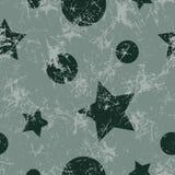 Configuration sans joint de vecteur Fond gris géométrique créatif avec des étoiles et des cercles Photographie stock