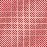 Configuration sans joint de vecteur Fond rouge abstrait géométrique symétrique avec des places, des lignes et des points Ornement Images stock