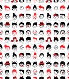 Configuration sans joint de visage Image libre de droits